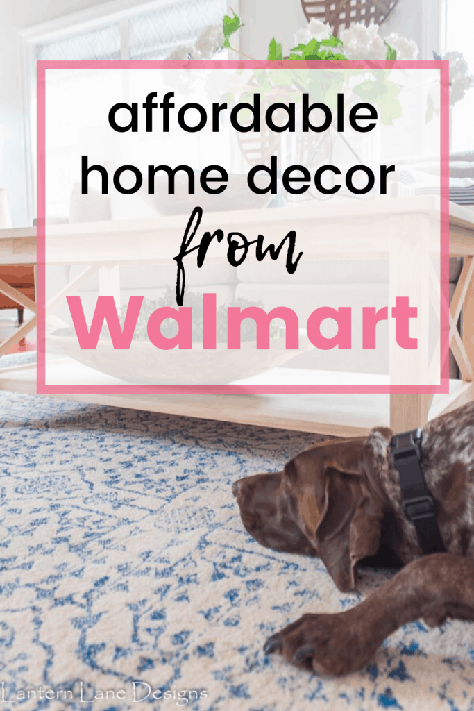 Affordable home decor from walmart