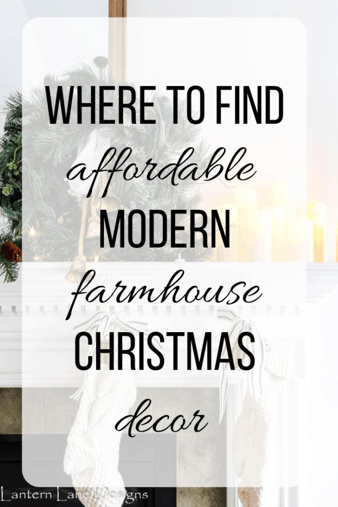Modernes Bauernhaus-Weihnachtsdekor