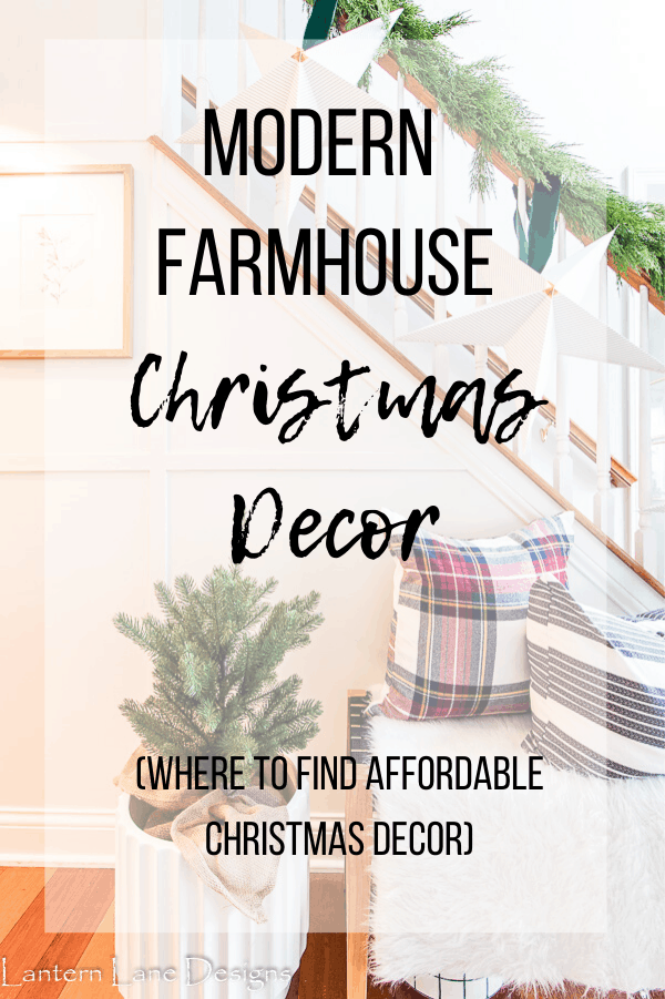 modern farmhouse christmas decor
