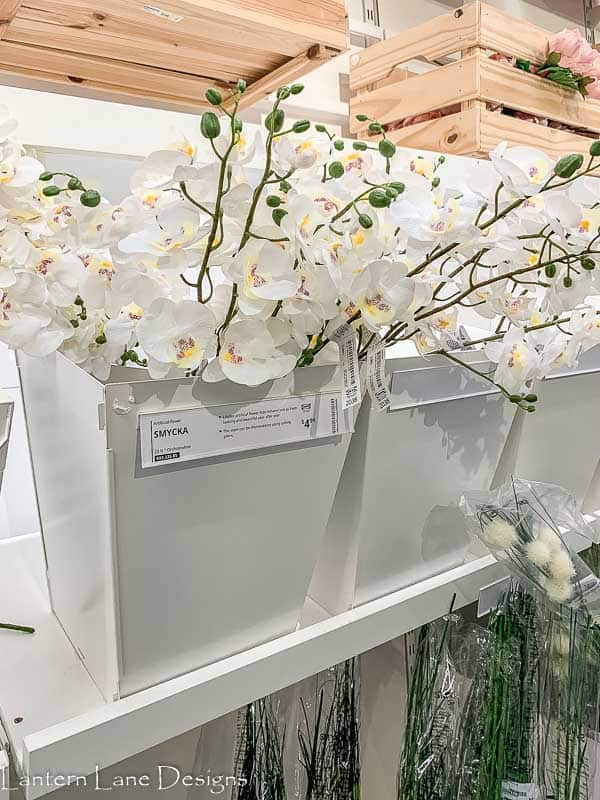 Fake flowers at IKEA