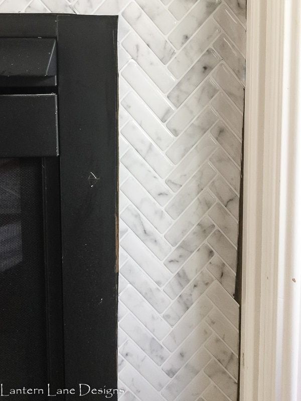 Peel and Stick Tile Fireplace Makeover