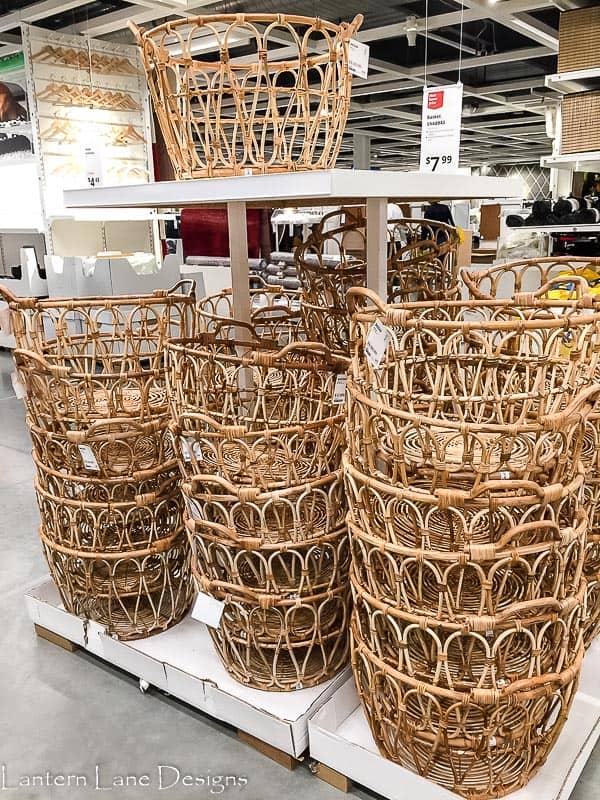 Baskets at IKEA
