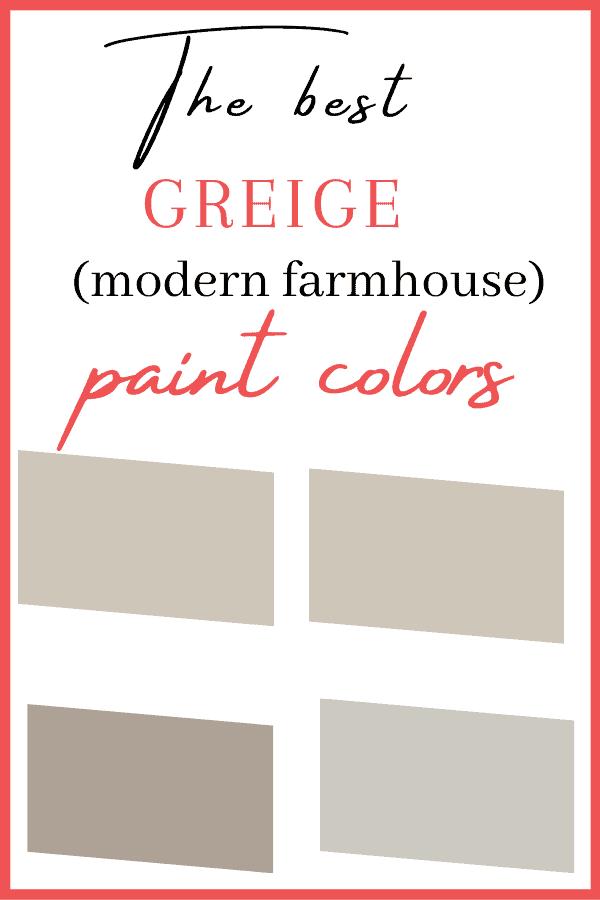 The best greige paint colors