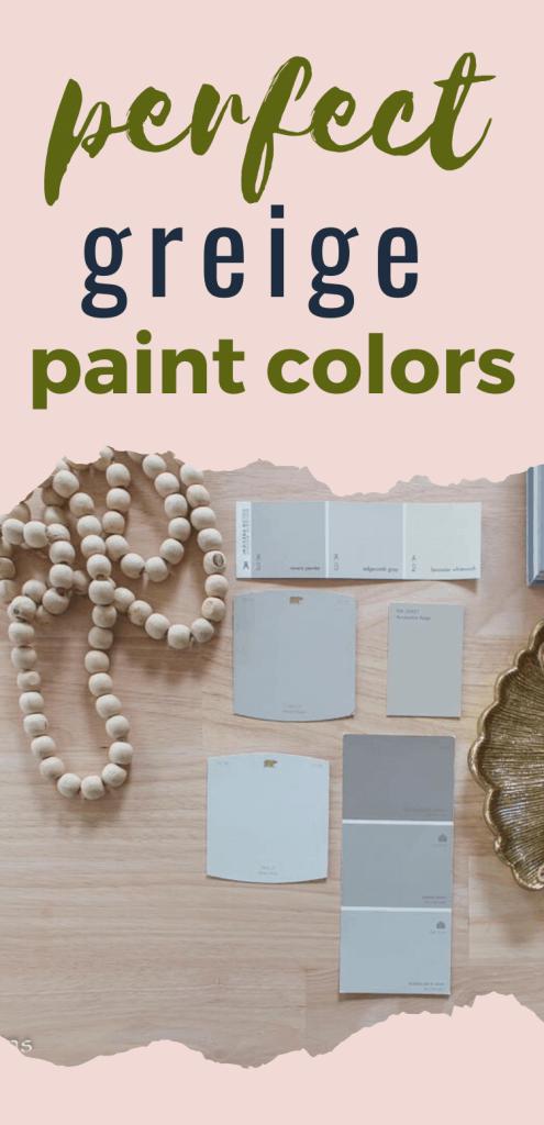 perfect greige paint colors