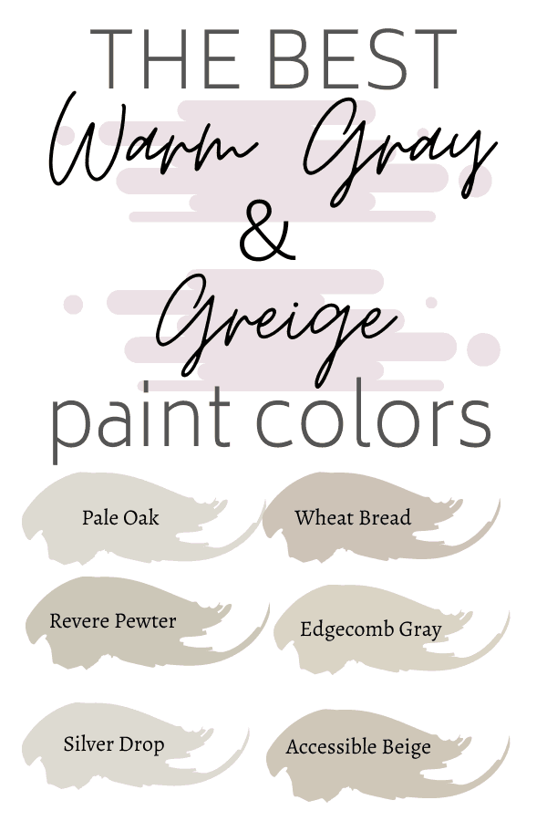 Best warm gray and greige paint colors