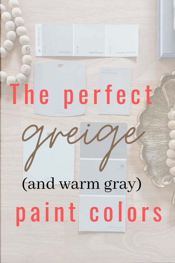 Perfect greige paint colors