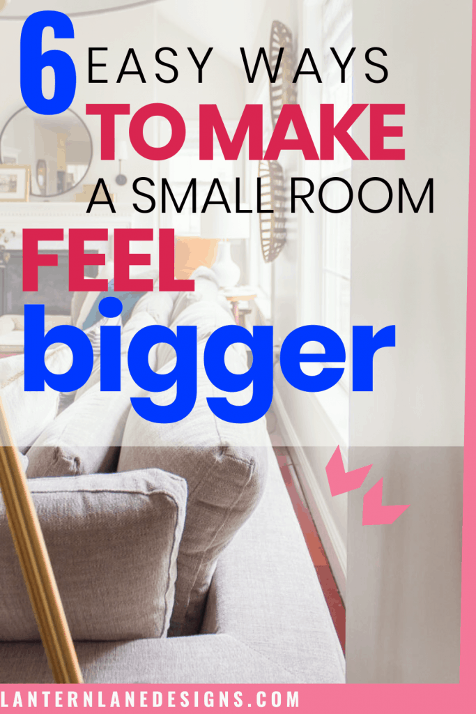 How to make small room look larger