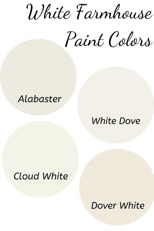 White Farmhouse Paint Colors