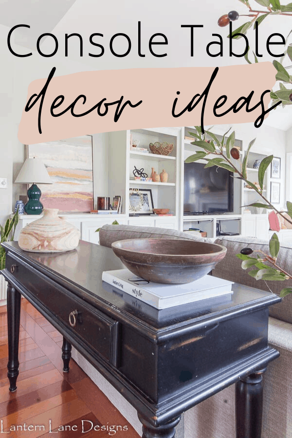 Console Table Decor Ideas
