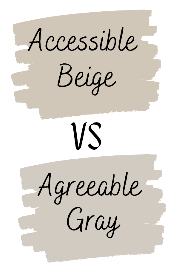 Accessible beige vs agreeable gray