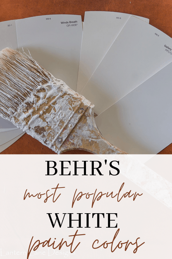 Behr's most popular white paint colors