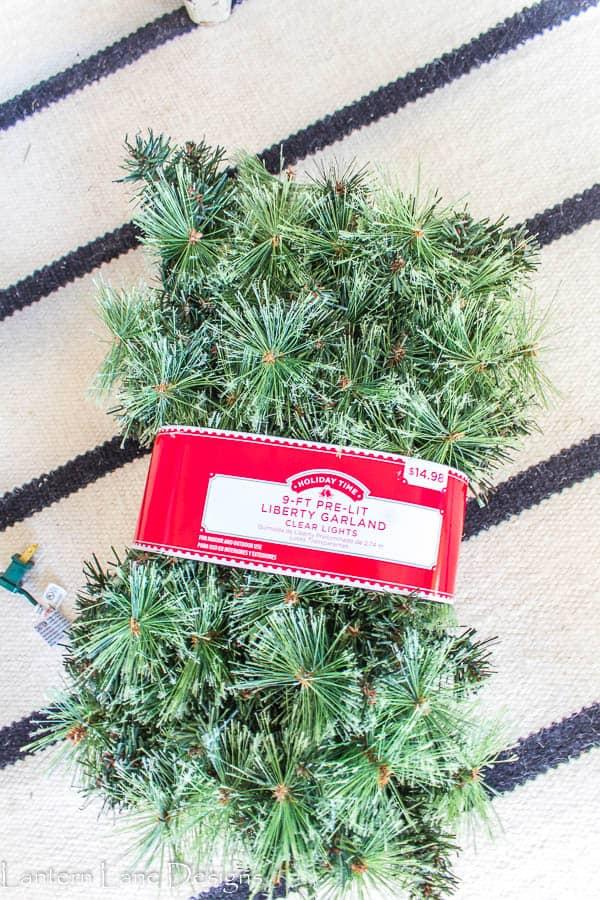 Walmart Christmas garland