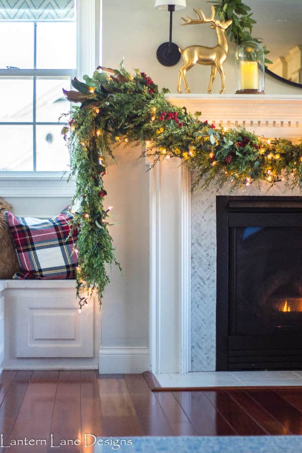 How to hang mantel