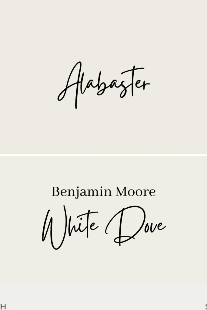 Alabaster vs White Dove
