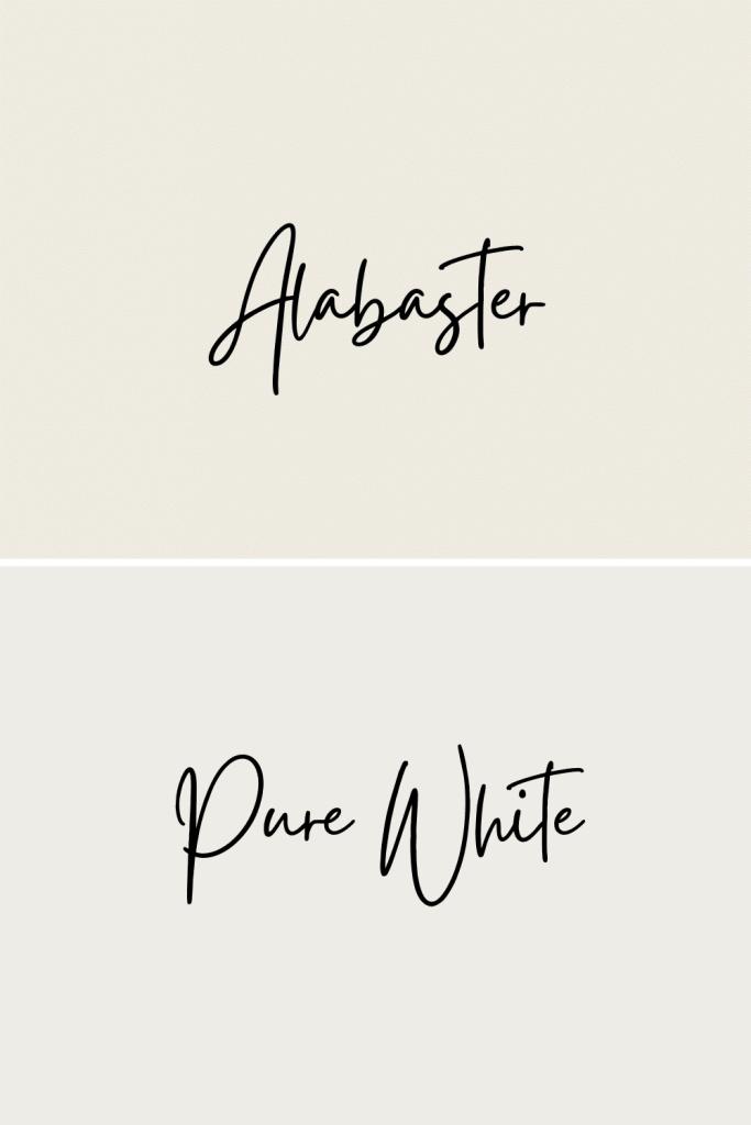 Alabaster vs Pure White