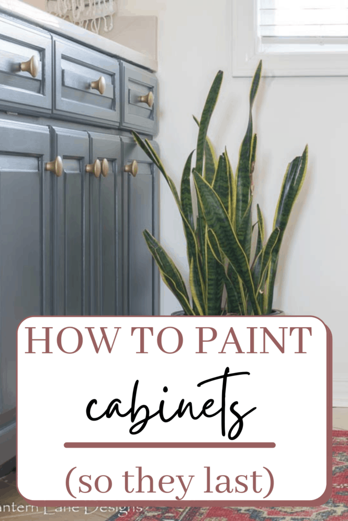 How to paint cabinets so they last