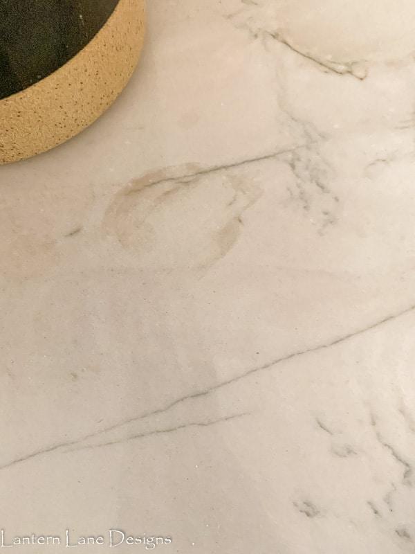 stain in quartzite counter