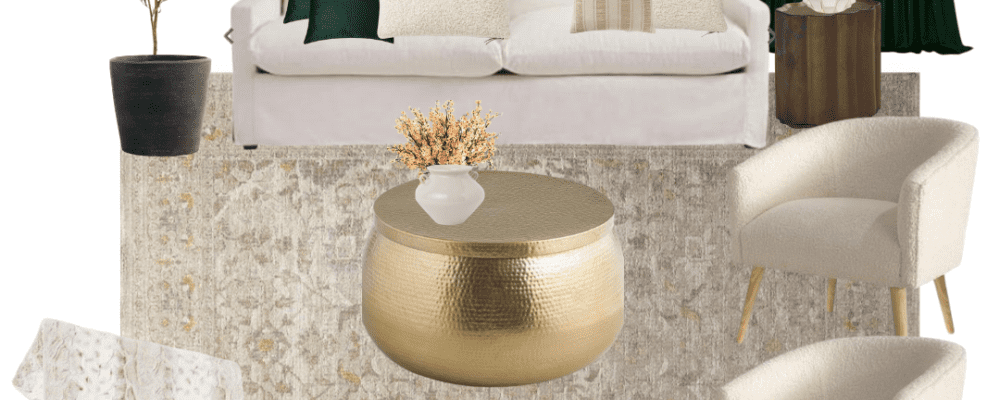 Emerald Green and Gold Living Room Ideas