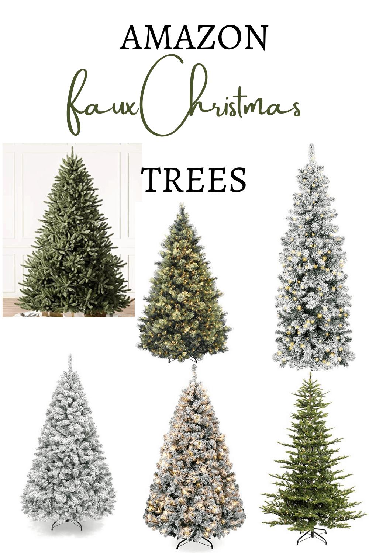 Amazon Faux Christmas Trees